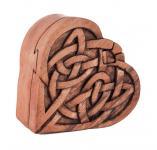 Pagan Geschenkdose ~ FIONA ~ b: 8.3 cm - Keltische Herz Schmuckdose - Handarbeit aus Holz - Windalf.de